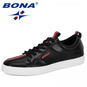 BONA 2019 New Style Anti Slippery Shoes Men Zapatos De Mujer Man Trendy Skateboarding Shoes Male Zapatillas Mujer Comfortable