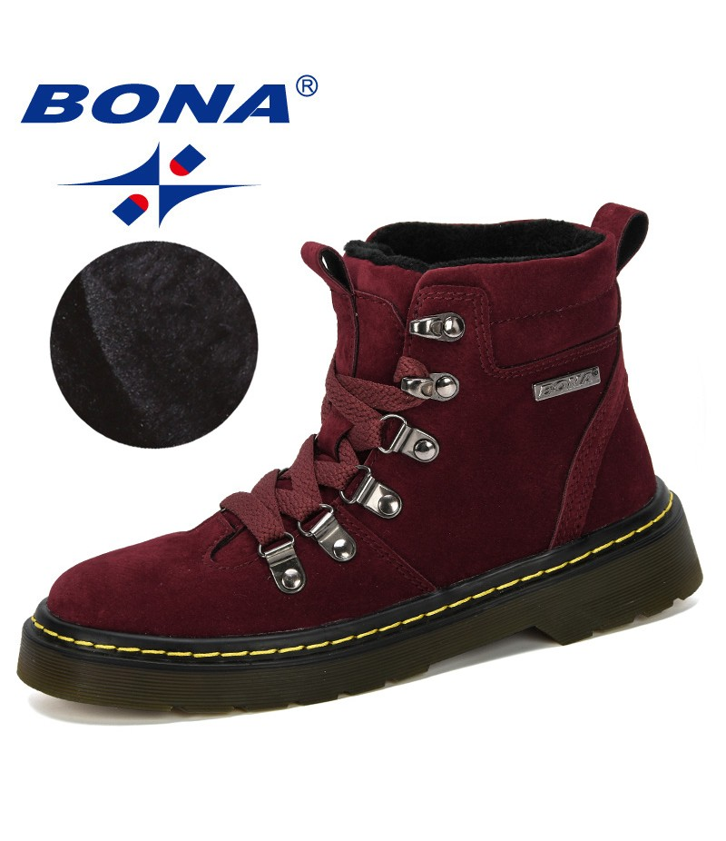 BONA 2019 New Popular Style Children Winter Shoes Boy Fashion Flock Boots Student Sneakers Plush Velvet Warm Kids Snow Boots