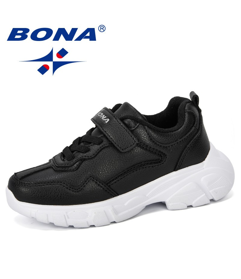 BONA 2019 New Style Boys Casual Shoes Children Sneakers Leather Fashion Sport Shoes Kids Spring Autumn Children Shoes Trendy
