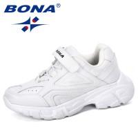 BONA 2019 New Designer Kids Sneakers Shoes Girls Casual Shoes Outdoor Hook & Loop Running Children Shoes Synthetic Boys Footwear