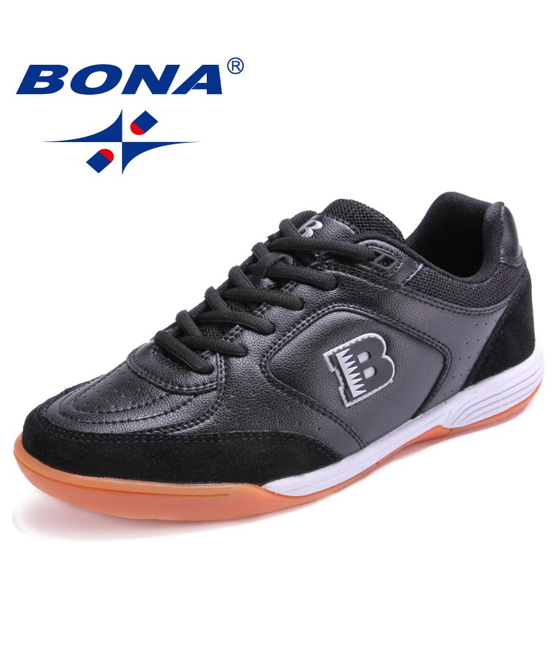 BONA New Popular Hot Style Men Soccer Outdoor Walking Jogging Sneakers Lace Up Sport Shoes For Men Comfortable Free Shipping