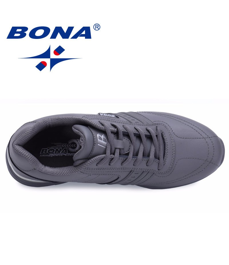 BONA  Chinese Shoes manufacture  Men Walking Shoes Lace Up Sport Shoes Outdoor Jogging Athletic Shoes Comfortable Men Sneakers Free Shipping