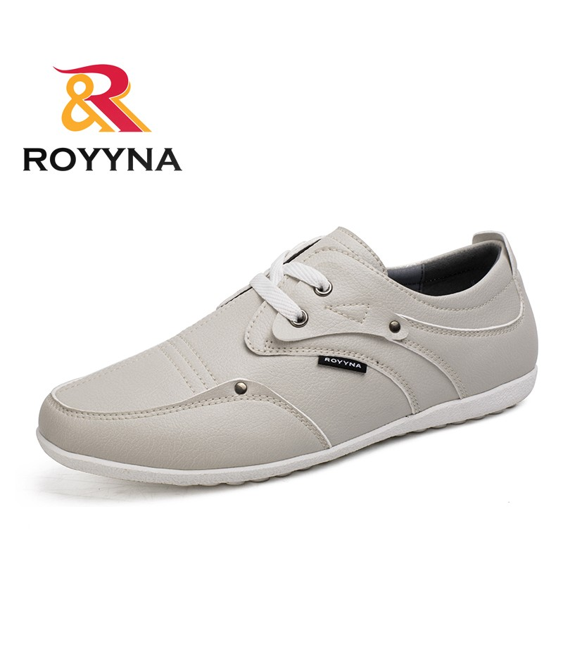ROYYNA New Fashion Style Men Casual Shoes Lace Up Microfiber Hand Made Men Shoes Soft Retail Wholesales Comfortable Flat Shoes