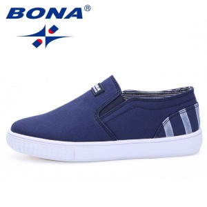 BONA New Popular Children Shoes Elastic Band Boys Ourdoor Walking Shoes Canvas Girls Casual Shoes Soft Fast Free Shipping