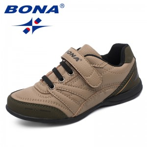 BONA Chinese Shoes manufacture  Children Casual Shoes Hook & Loop Boys Shoes Outdoor Walking Jooging Sneakers Comfortable Free Shipping