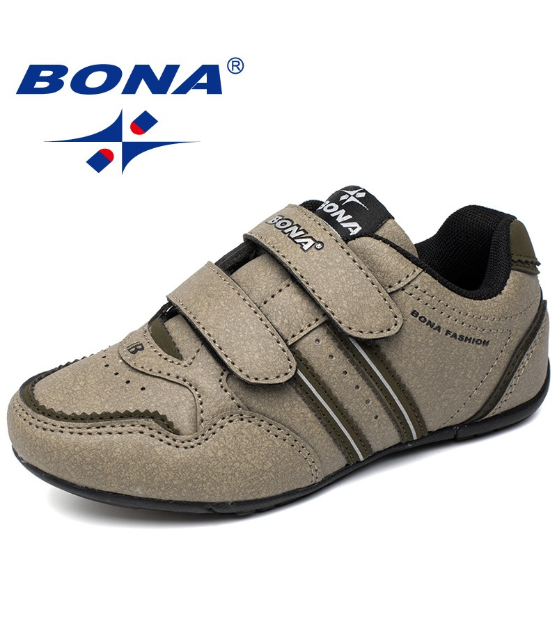 BONA New Popular Style Children Casual Shoes Hook & Loop Boys Sneakers Outdoor Jogging Shoes Comfortable Sport Shoes For Kids