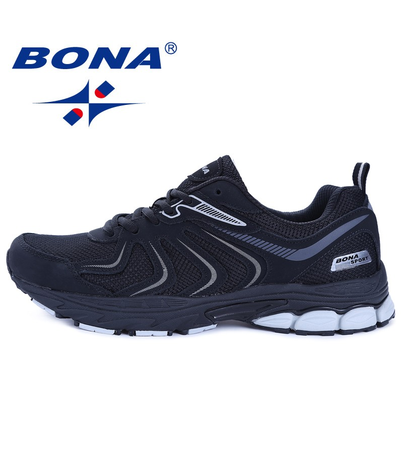 BONA  Shoes made in China Men Running Shoes Lace Up Breathable Comfortable Sneakers Outdoor Walking Footwear Men Free Shipping