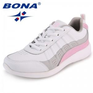 BONA New Arrival Classics Style Women Flats Delicate Designer Women Comfort Shoes Microfiber Femme Sneakers Lace Up Lady Shoes
