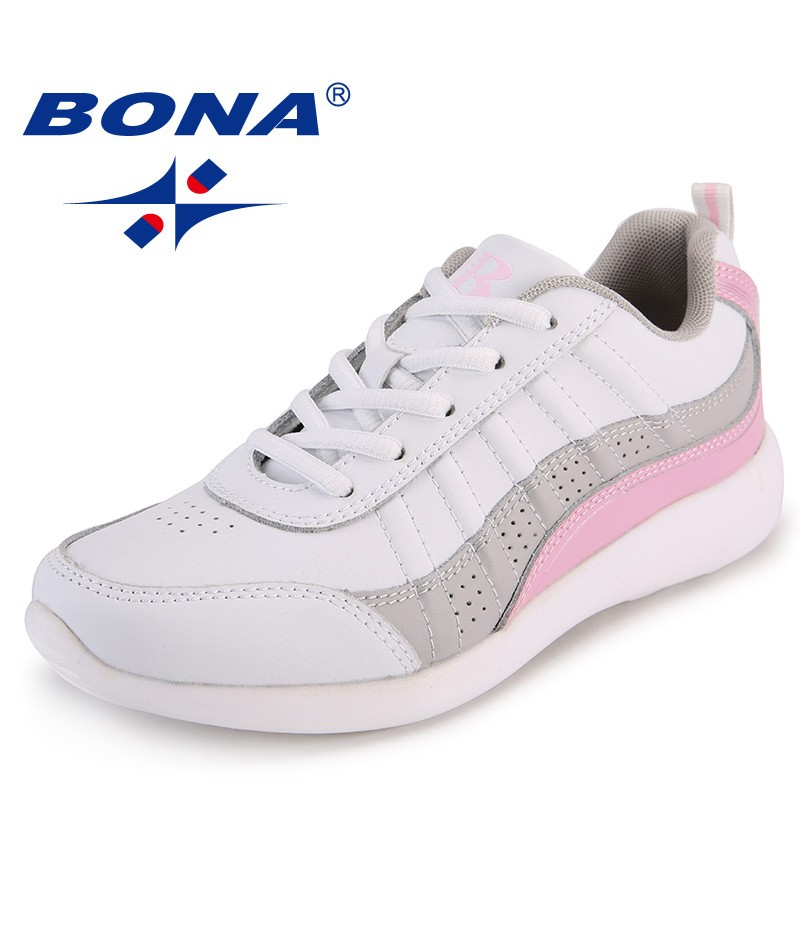 BONA New Arrival Classics Style Women Flats Delicate Designer Women Comfort Shoes Microfiber Femme Sneakers Lace Up Lady Shoes