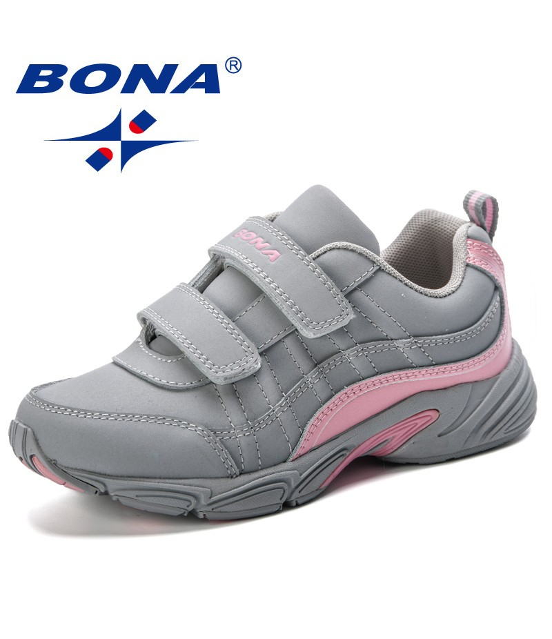 BONA New Arrival 2019 Durable Kids Shoes Fashion Striped Contrast Color Boys Girls Sneakers Trendy Children Sports Shoes Running
