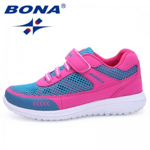 BONA New Arrival Fashion Style Children Casual Shoes Mesh Upper Boys & Girls Shoes Breathable Light Soft Walking Free Shipping