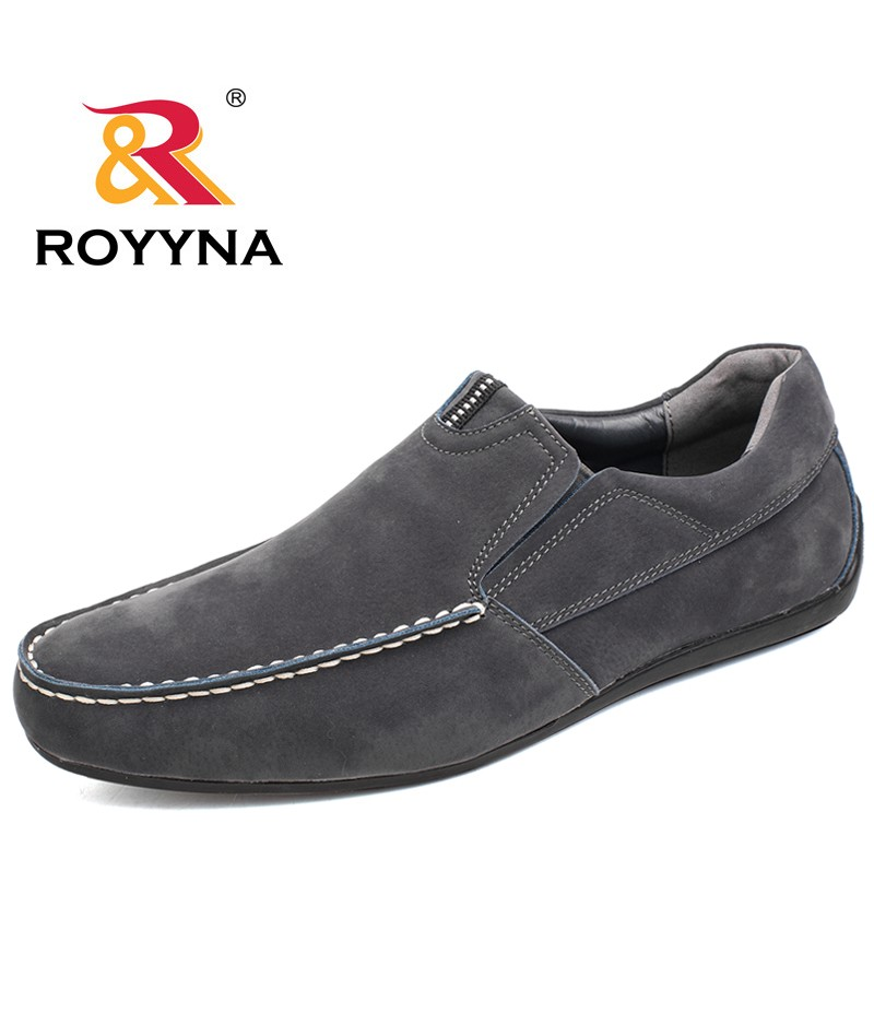 ROYYNA New Fashion Style Men Casual Shoes Hand Made Boat Shoes Elastic Band Breathable Men Shoes Comfortable Fast Free Shipping