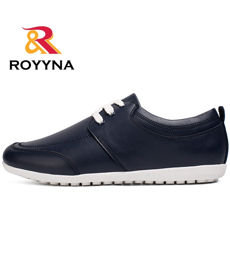 ROYYNA New Popular Style Men Casual Shoes Microfiber Men Shoes Lace Up Flats Comfortable Men Loafers Light Soft Free Shipping