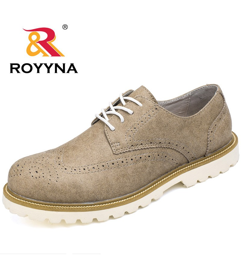 ROYYNA New Arrival Men Oxfords Shoes Hand Made Lace Up Microfiber Men Shoes Business Dress Flats Comfortable Fast Free Shipping