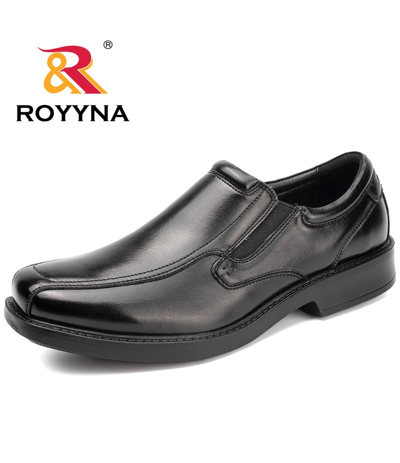 ROYYNA New Classics Style Men Formal Shoes Square Toe Elastic Band Men Business Shoes Microfiber Men Shoes Fast Free Shipping