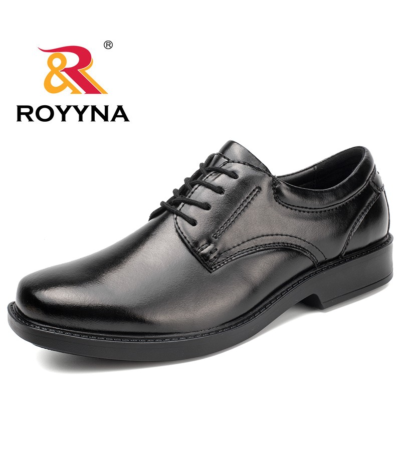ROYYNA New Fashion Style Men Formal Shoes Lace Up Men Office Shoes Microfiber Men Shoes Comfortable Men Flats Free Shipping