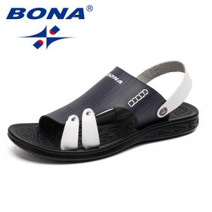 BONA New Fashion Style Men Sandals Slip On Men Summer Shoes Microfiber Men Beach Slipper Shoes Comfortable Fast Free Shipping
