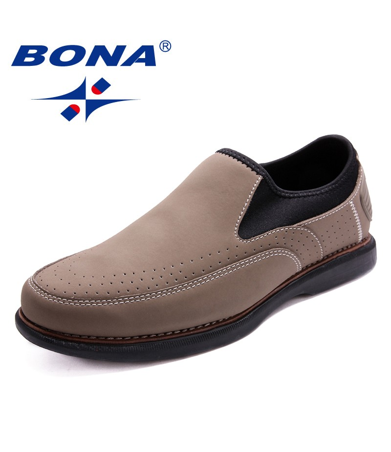 BONA New Fashion Style Men Casual Shoes Lace Up Loafers Slip-On Flats Comfortable Soft Fast Free Shipping