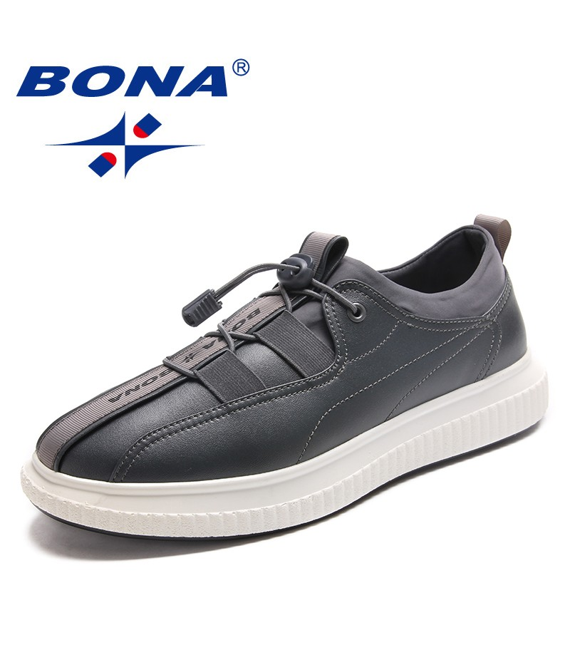 BONA New Fashion Style Men Casual Shoes Lace Up Men Loafers Microfiber Men Flats Comfortable Men Shoes Light Fast Free Shipping
