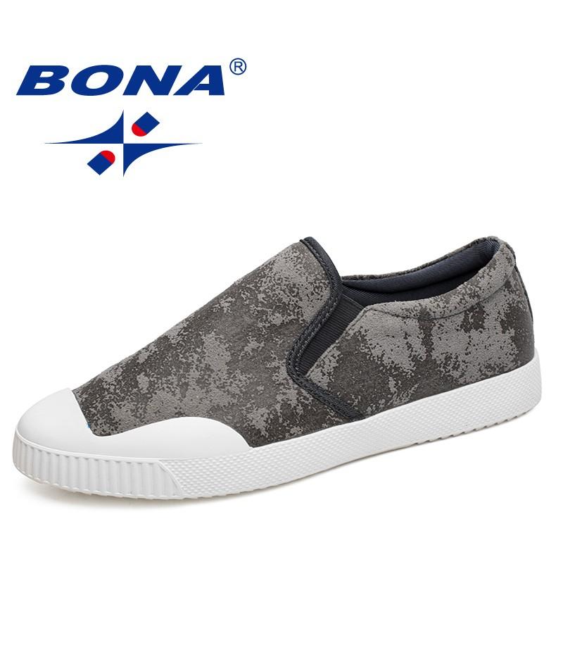 BONA New Hot Style Men Casual Shoes Elastic Band Men Shoes Microfiber Men Loafers Comfortable Men Flats Soft Fast Free Shipping