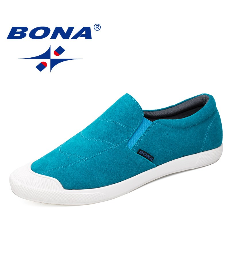 BONA New Arrival Classics Style Men Casual Shoes Elastic Band Men Shoes Suede Men Loafers Comfortable Men Flats Free Shipping