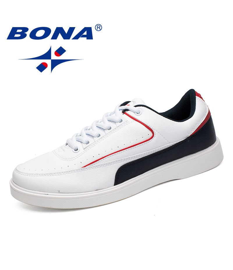BONA New Style Men Casual Shoes Lace Up Men Shoes Microfiber Male Loafers Comfortable Men Flats Light Soft Fast Free Shipping