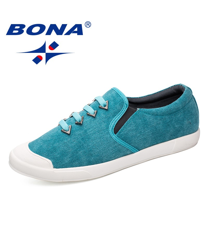 BONA New Arrival Popular Style Men Casual Shoes Elastic Band Men Canvas Comfortable Men Loafers Fashion Men Flats Free Shipping