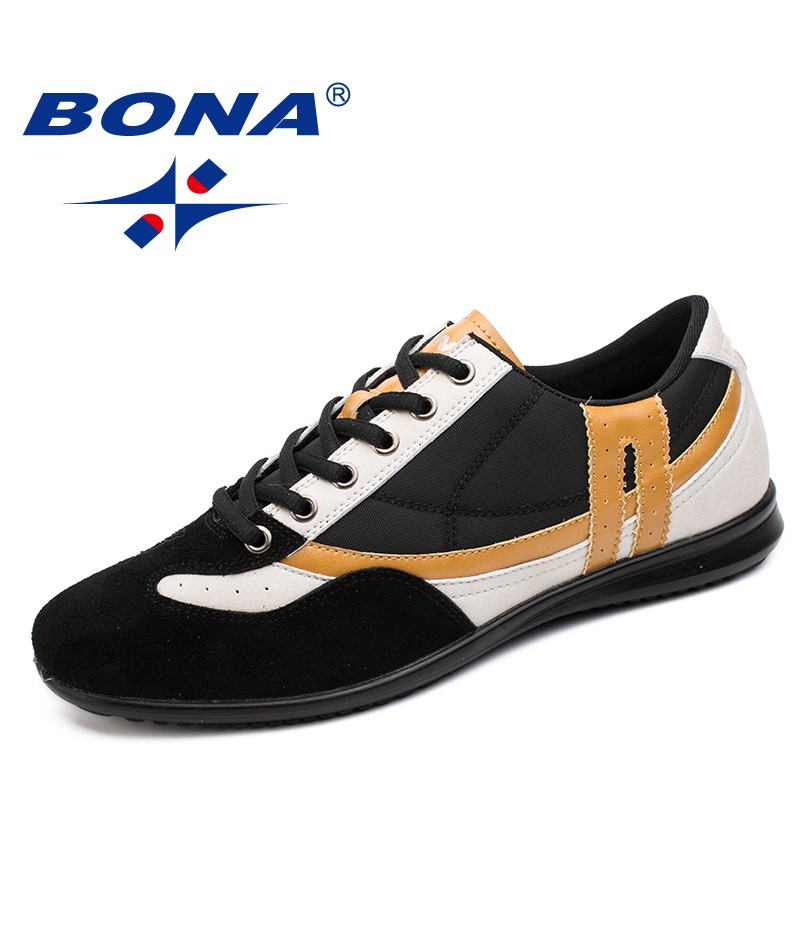 BONA New Fashion Style Men Casual Shoes Lace Up Men Shoes Microfiber Men Loafers Popular Comfortable Breathable Free Shipping