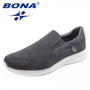 BONA New Arrival Classics Style Men Casual Shoes Slip-On Men Loafers Suede Men Flats Comfortable Outdoor Sneakers Free Shipping