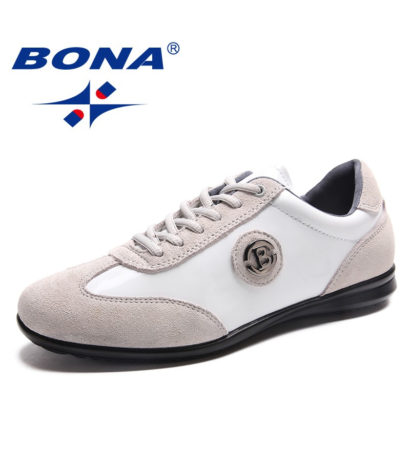 BONA New Fashion Style Men Casual Shoes Lace Up Men Shoes Microfiber Men Loafers Comfortable Men Flats Light Fast Free Shipping