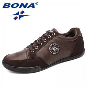 BONA New Arrival Classics Style Men Casual Shoes Lace Up Men Loafers Microfiber Male Flats Comfortable Light Soft Free Shipping