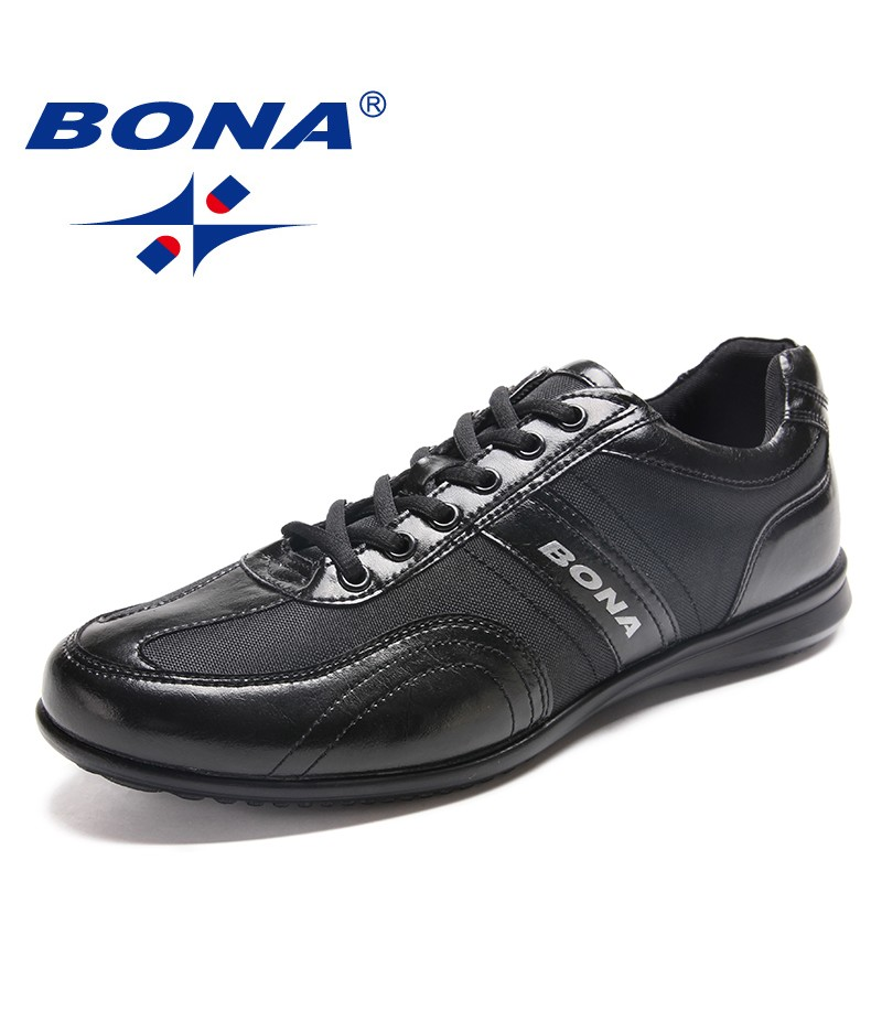 BONA New Classics Style Men Casual Shoes Lace Up Men Loafers Microfiber Men Shoes Comfortable Men Flats Light Free Fast Shippin