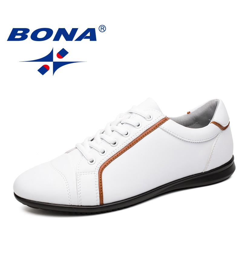 BONA New Fashion Style Men Casual Shoes Lace Up Men Shoes Microfiber Men Loafers Comfortable Men Flats Light Soft Free Shipping