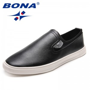 BONA New Arrival Classics Style Men Casual Shoes Elastic Band Men Loafers Microfiber Male Flats Comfortable Fast Free Shipping