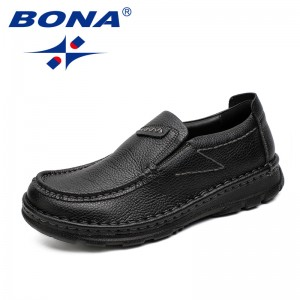 BONA New Classics Style Men Casual Shoes Elastic Band Men Boat Shoes Microfiber Male Flats Comfortable Light Soft Free Shipping