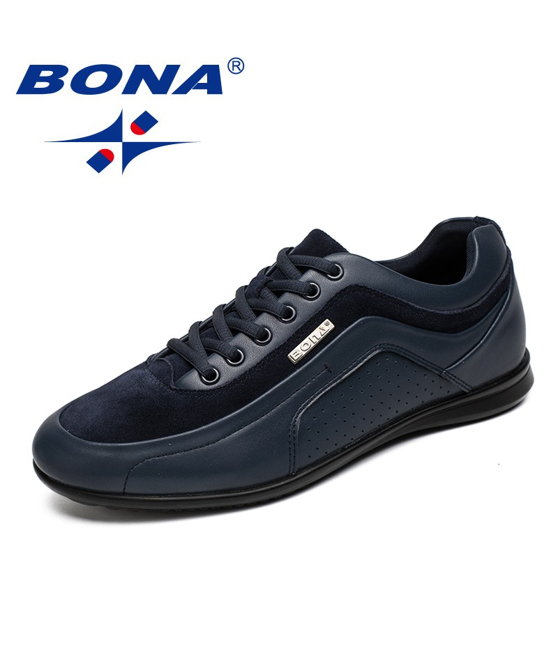 BONA New Fashion Style Men Casual Shoes Lace Up Men Loafers Microfiber Male Shoes Comfortable Men Flats Soft Fast Free Shipping