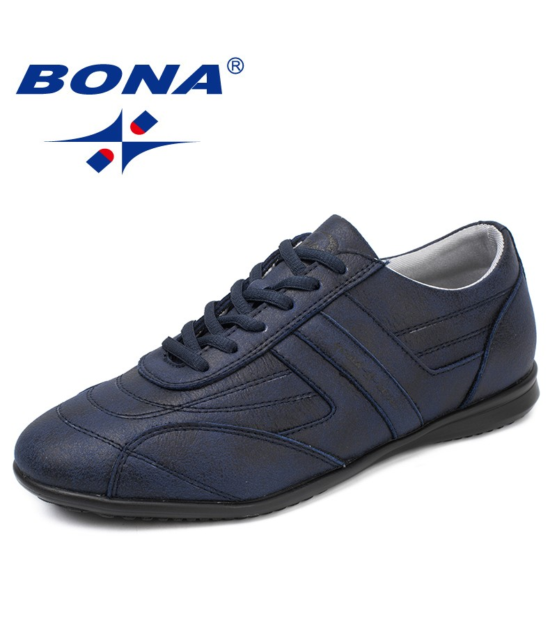 BONA New Classics Style Men Casual Shoes Lace Up Men Loafers Microfiber Male Flats Comfortable Men Shoes Light Free Shipping