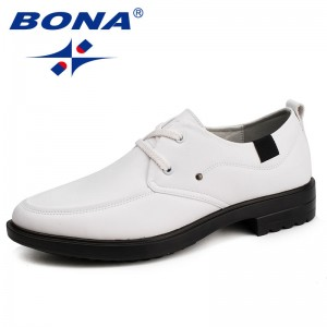 BONA New Fashion Style Men Casual Shoes Microfiber Men Loafers Lace Up Men Flats Comfortable Male Shoes Light Free Shipping