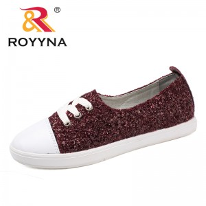 ROYYNA New Arrival Calssics Style Women Casual Shoes Lace Up Women Flats Round Toe Lady Leisure Shoes Light Fast Free Shipping