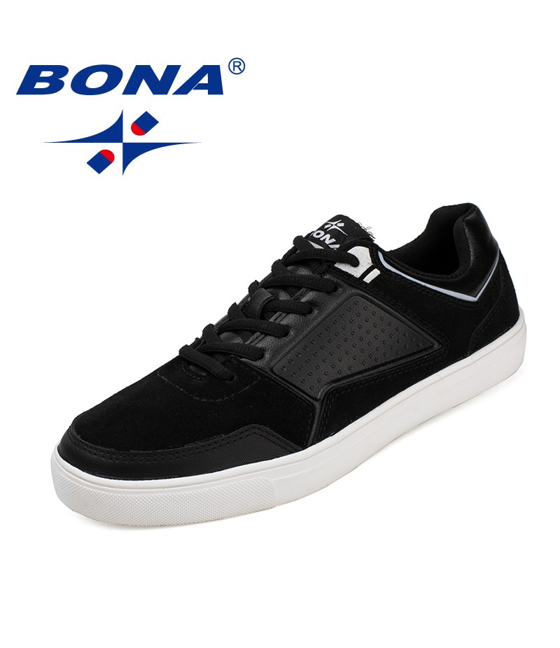 BONA New Fashion Style Men Casual Shoes Lace Up Men Loafers Microfiber Men Flats Outdoor Fashion Sneakers Light Free Shipping