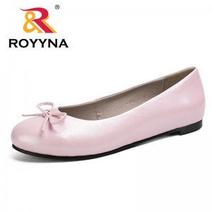 ROYYNA Spring Autumn New Fashionable Hot Designer Women Flat Shoes 35-43 Round Toe Women Cusual Shoes Fast Free Shipping