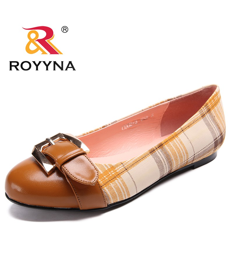 ROYYNA Women Flats 2017 PU Leather Casual Loafers Floral Walking Shoes Woman Fashion Brand Women Casual Shoes Fast Free Shipping