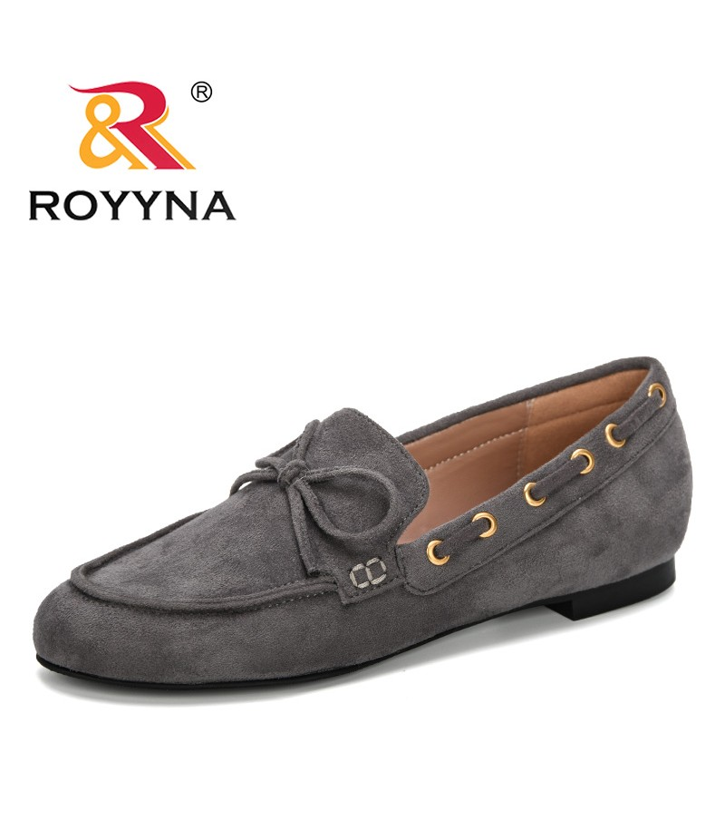 ROYYNA 2019 New Designer Woman Pumps Flock Low Heels Women Dress Shoes Butterfly-Knot Women's Work Shoes Outdoor Lady Boat Shoes