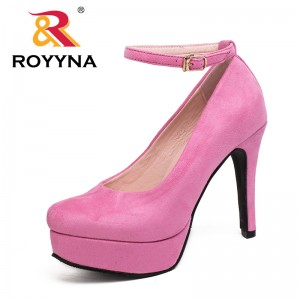 ROYYNA Autumn New Style Fashionable Basic Women Pumps High Heel Flock Colorful Top Quality Stiletto Elegant Free Shipping