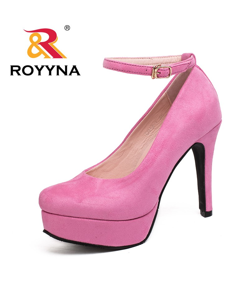 ROYYNA Autumn New Style Fashionable Basic Women Pumps High Heel Flock Colorful Top Quality Stiletto Elegant Free Shipping