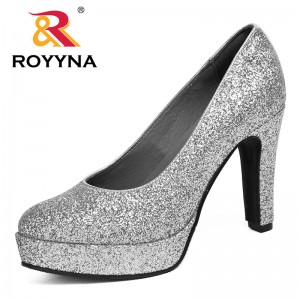 ROYYNA Elegan New Style New Arrival Fashionable Women Pumps High Heel Platform Colorful Bowknot Fast Shipping Female Shoes