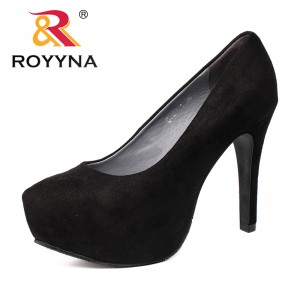 ROYYNA Autumn New Arrival Popular Style Women Pumps High Heels Stiletto Pointed Toe Platform Women Shoes Zapatos Mujer