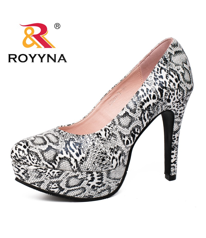 ROYYNA Spring Autumn New Arrivals Hot Popular Style Women Pumps Round Toe Chaussure Escarpins Semelle Women Shoe Good Looking