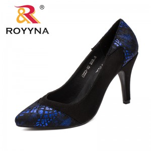 R0YYNA New Fashion Style Women Pumps Pointed Toe Women Dress Shoes High Heels Lady Wedding Shoes Comfortable Fast Free Shipping