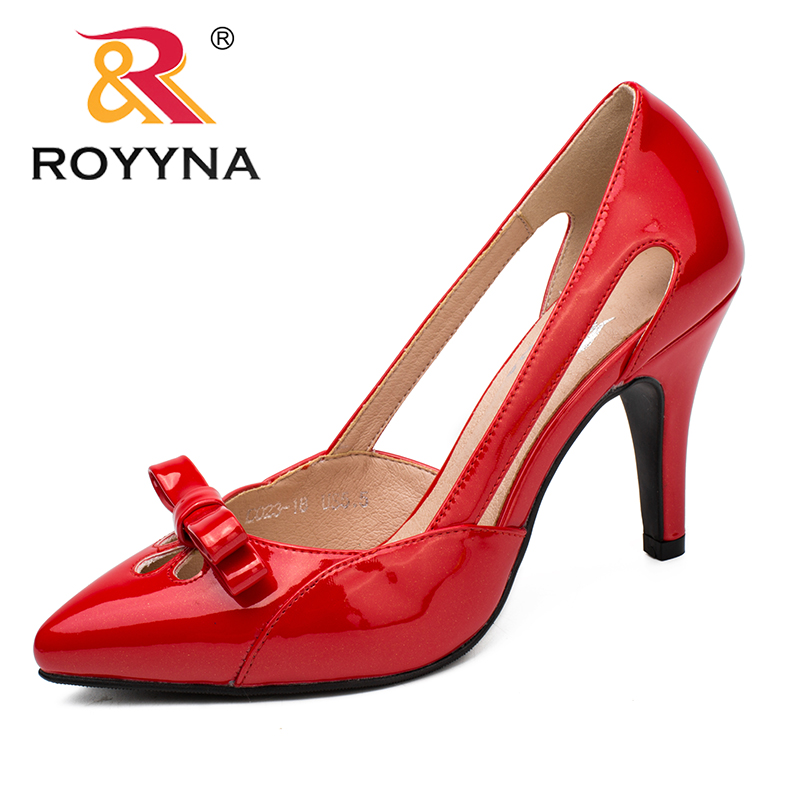 ROYYNA New Arrival Fashion Style Women Pumps Mirror Women Shoes Pointed Toe Women Dress Shoes Shallow Lady Wedding Shoes